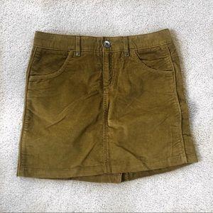Athleta Green Denim Skirt